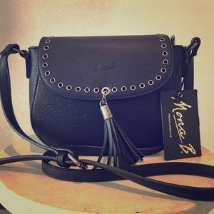 Handbags - Mona B Crossbody Handbag-Black